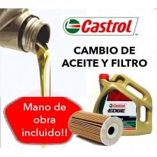 Cambio Aceite y Filtros Castrol Edge 5W40