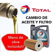 Cambio Aceite y Filtros TOTAL 5W40 5L.