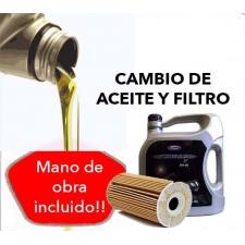 Cambio Aceite y Filtro FORD 5W30 5L.