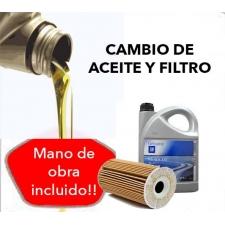 Cambio Aceite y Filtro OPEL 5W30 5L.
