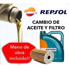 Cambio Aceite y Filtro REPSOL 10W40 5L.