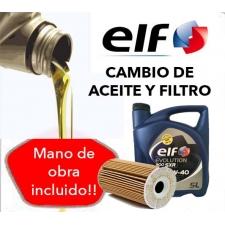 Cambio Aceite y Filtros ELF Evolution 10W40